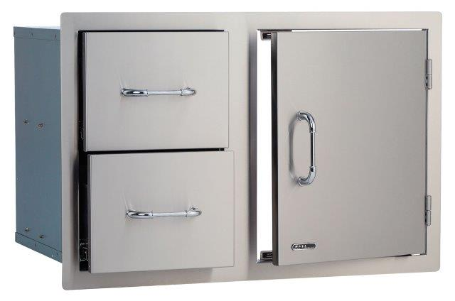 Bull Medium Door/Drawer Combo Stainless Steel